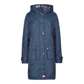 Amadeo Print Lined Waterproof Jacket Dark Navy