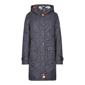 Amadeo Print Lined Waterproof Jacket Coal