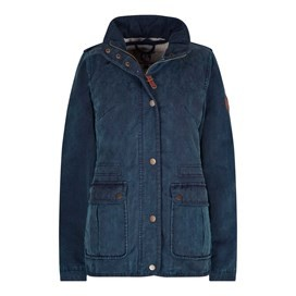 Lydian Waxed Look Jacket Dark Navy