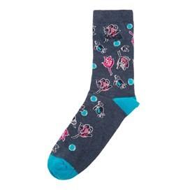 Huron Printed Sock Sloeberry
