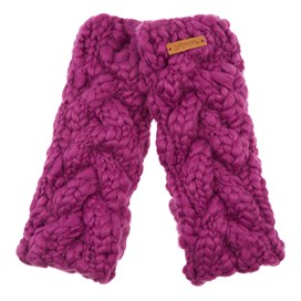 Azra Cable Knit Wristwarmers Sloeberry