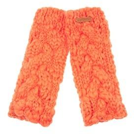 Azra Cable Knit Wristwarmers Clementine