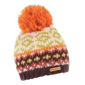 Naz Fair Isle Knit Bobble Hat Pumpkin