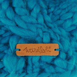 Aysha Cable Knit Bobble Hat Blue Jay