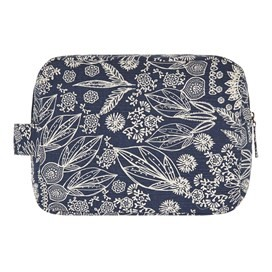 Janis Printed Wash Bag Dark Navy