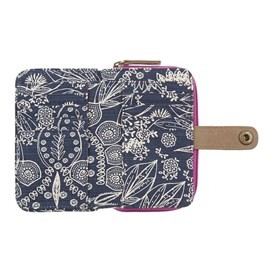 Tom Tom Printed Cotton Purse Dark Navy