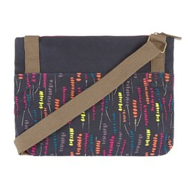 Elmi Printed Waxed Cross Body Bag Navy