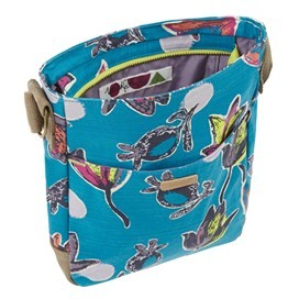 Amira Printed Cross Body Bag Blue Jay