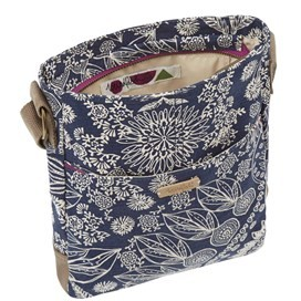 Amira Printed Cross Body Bag Dark Navy