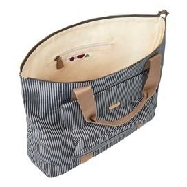 Tali Pinstripe Shopper Bag Dark Navy