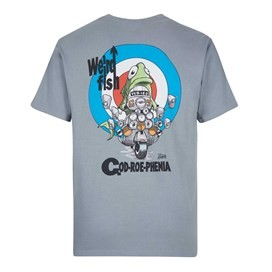 Cod-Roe-Phenia Artist T-Shirt Grey Blue