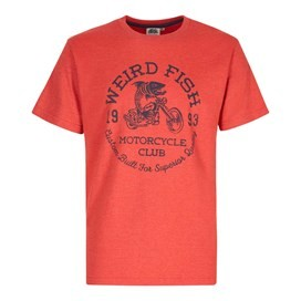 Rebel Graphic Print T-Shirt Dark Red Marl