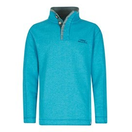 Genie Button Neck Sweatshirt Blue Jay