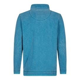 Meuli 1/4 Zip Pique Sweatshirt Blue Jay