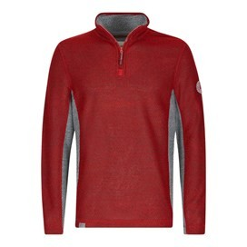 Siren 1/4 Zip Active Macaroni Sweatshirt Dark Red