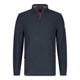 Renil 1/4 Zip Fleece Lined Macaroni Sweatshirt Blueberry