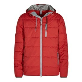 Metroplex Ripstop Wadded Packaway Jacket Dark Red