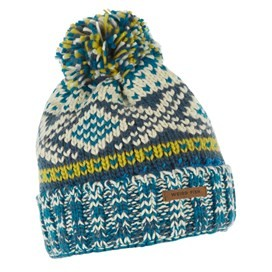 Columbus Fair Isle Knit Bobble Hat Ensign Blue