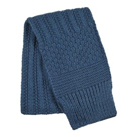 Shiga Cable Knit Scarf Ensign Blue