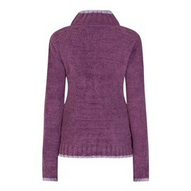 Luddington Full Zip Fur Knit Mulberry