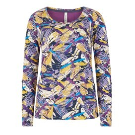 Kerouac Printed Jersey T-Shirt Mulberry