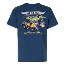 Motorbike & Sidecarp Artist T-Shirt Ensign Blue