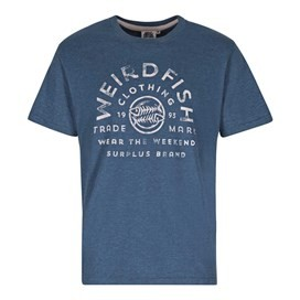 Wf Surplus Graphic Print T-Shirt Ensign Blue Marl