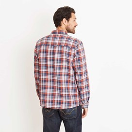 Bernheim Twill Check Long Sleeve Shirt Ensign Blue