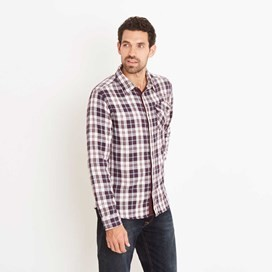 Sazerac Double Faced Long Sleeve Check Shirt Nightshade