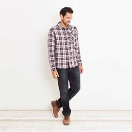 Sazerac Double Faced Long Sleeve Check Shirt Nightshade