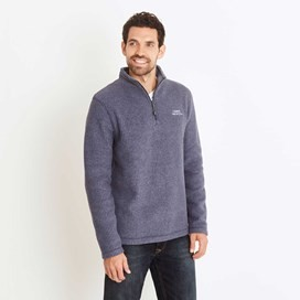Morle 1/4 Zip Microfleece Top Dark Navy
