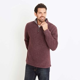 Morle 1/4 Zip Microfleece Top Dark Wine