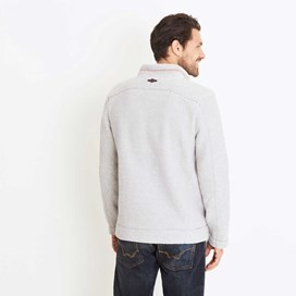 Albany 1/4 Zip Technical Popcorn Fleece Top Soft Grey