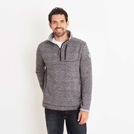 State 1/4 Zip Soft Knit Fleece Sweatshirt Blueberry