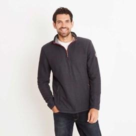 Renil 1/4 Zip Fleece Lined Macaroni Sweatshirt Blueberry