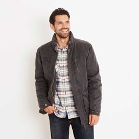 Thunderchief Waxed Look Padded Jacket Blueberry