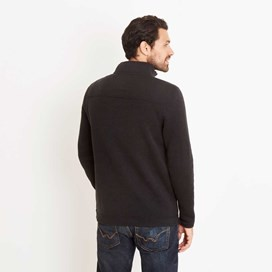 Talas 1/4 Zip Soft Knit Fleece Top Washed Black