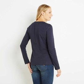 Aysun Long Sleeve Jersey Outfitter T-Shirt Dark Navy