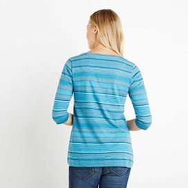 Paloma Fancy Stripe T-Shirt Blue Jay