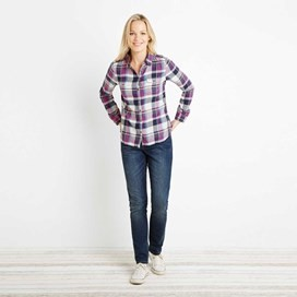 Rosa Checked Twill Shirt Sloeberry