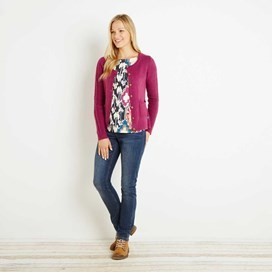 Ammi Cable Knit Outfitter Cardigan Sloeberry