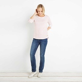 Roxie Striped Crew Neck Top Paprika