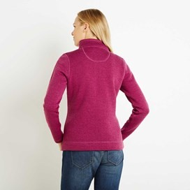 Galata Soft Knit Full Zip Fleece Top Sloeberry