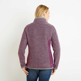 Olympia Full Zip Fleece Lined Macaroni Sweatshirt Sloeberry