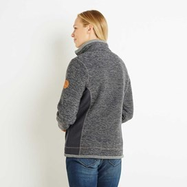 Olympia Full Zip Fleece Lined Macaroni Sweatshirt Navy