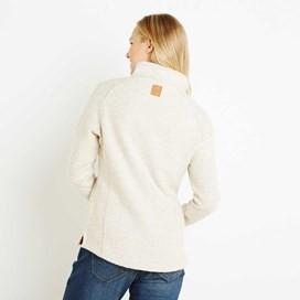 Constantine Print Trim 1/4 Zip Classic Macaroni Sweatshirt Ecru