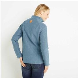 Damla Print Trim Full Zip Classic Macaroni Jacket Bluebird