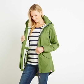 Avesta Print Lined Fully Waterproof Hooded Jacket Kiwi