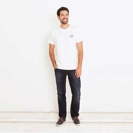 Heritage Surf Graphic Print T-Shirt Snow White Marl