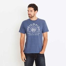 Wf Surplus Graphic Print T-Shirt Ensign Blue Marl